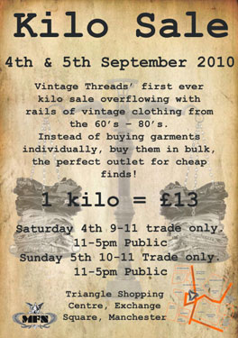 Vintage Kilo sale in Manchester