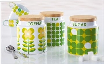 Lime Green Canisters Tea Coffee Sugar Cbaarch