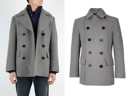 Wool pea coat by Ralph Lauren