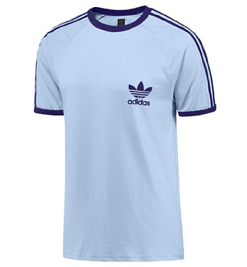 adidas trefoil t shirt 3 stripes