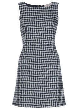 Kew dogtooth print shift dress