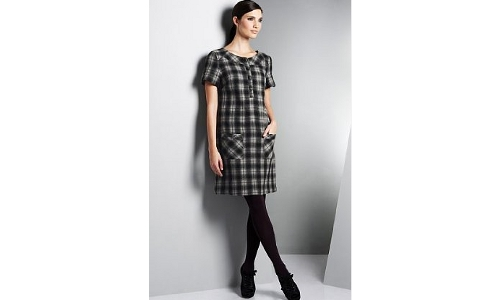 Marks and Spencer Wool Check Dress