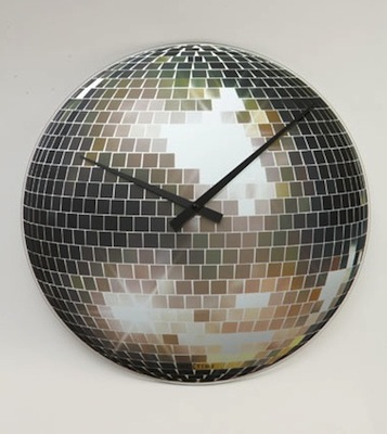 Disco ball clock