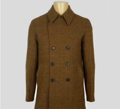 Pretty Green tweed pea coat
