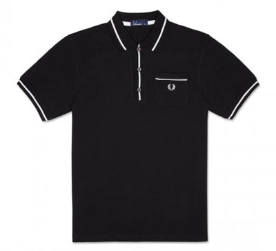 Fred Perry tipped pocket shirt