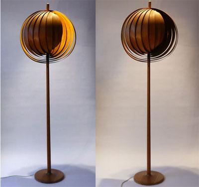 Verner Panton Style Moon Floor Lamp, Verner Panton Lamp Moon