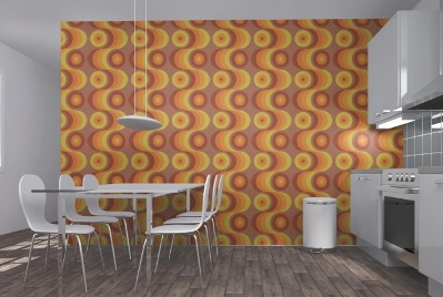 Photowall Has A Range Of Retro Wallpapers That You Would Have To Be Pretty Brave Use As Even Restricted Feature Wall They Make Bold Statement