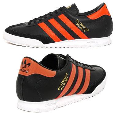 adidas black and orange trainers
