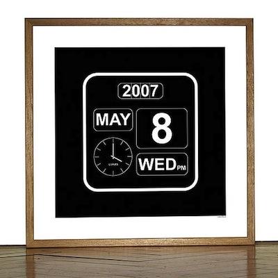 Flip clock poster