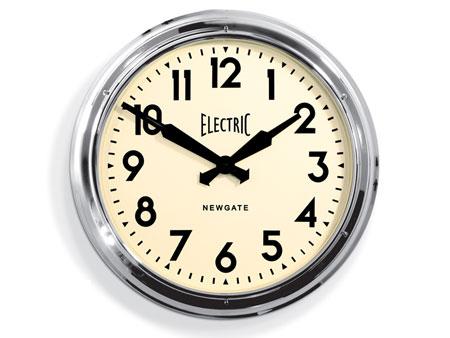 Giant Electric Wall Clock By Newgate Clocks Retro To Go
