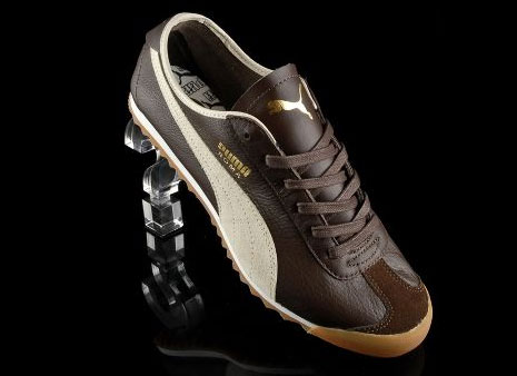 1960s Puma Roma trainers gets a reissue in brown leather - Retro to Go 57adb0221