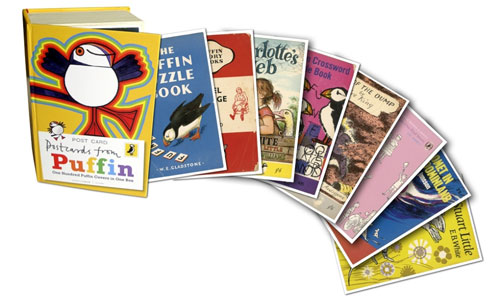 Vintage Penguin Book Cover Postcards : Postcards from puffin book covers in one box retro