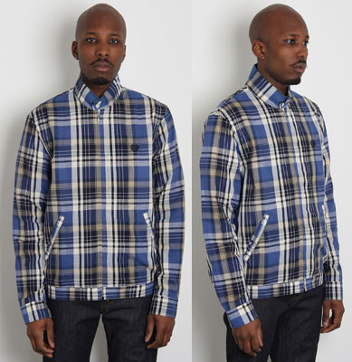 Fred Perry Madras check Harrington