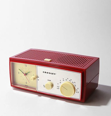 crosley clock radio available from urban outfitters retro to go. Black Bedroom Furniture Sets. Home Design Ideas