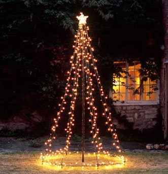 Switched On Set Light Tree Tower From Cox Cox - Outdoor Christmas Tree Made Of Lights