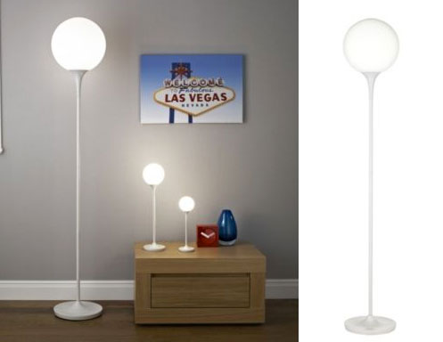 B&Q 1970s-style Pandora opal glass globe floor lamp | Retro to Go:There are some really stylish and affordable lights in B&Q right now,  including this B&Q Pandora opal glass globe floor lamp.,Lighting