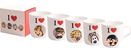 Tintin-mugs