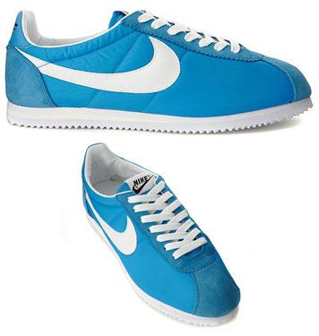 cheaper 46357 70ceb 1970s Nike Cortez trainers return in sky blue nylon - Retro to Go