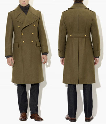 His Knibs classic men's style: Crombie British Army Green ...