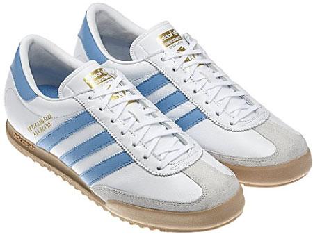 0e4fc38e056 Adidas Beckenbauer trainers return in white and blue - Retro to Go
