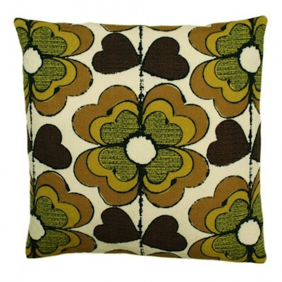 Olive lucky clover cushion