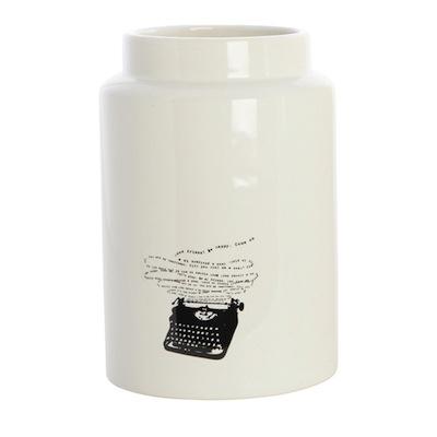 Typewriter vase
