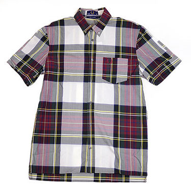 Fred Perry short sleeve tartan shirt