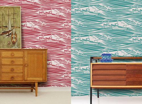 Whitby wallpaper by Mini Moderns