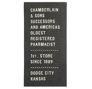 Pharmacist towel