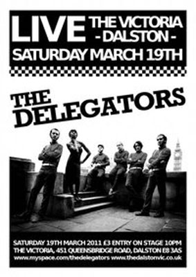The Delegators at the Victoria, Dalston