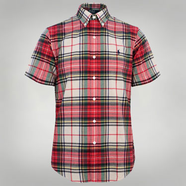 Ralph Lauren madras short-sleeved shirts