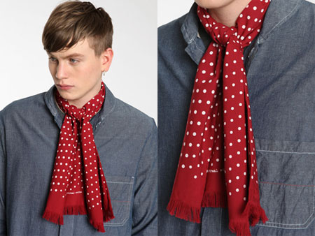Universal Works Polka Dot Red Scarf