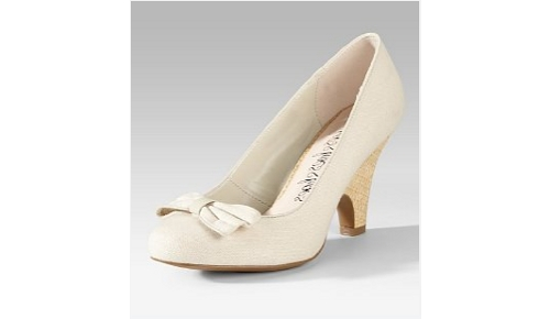 newest collection detailed look hot new products Cream Bow Heels from Marks and Spencer - Retro to Go