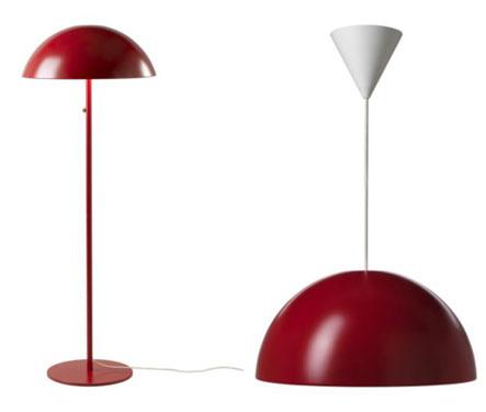 Ikea 365 Verner Panton Inspired Brasa, Ikea Red Table Lamps