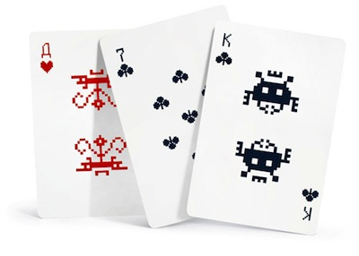 Space invader cards