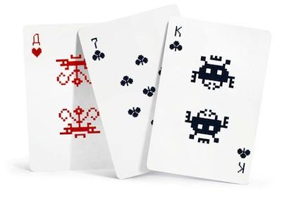 Space invader cards