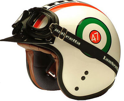 Limited edition Lambretta helmets