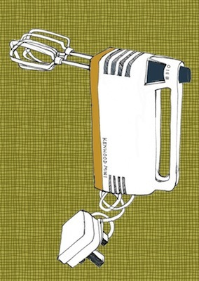 Retro To Go: Retro Kenwood Mixer print by Nursey Bang Bang