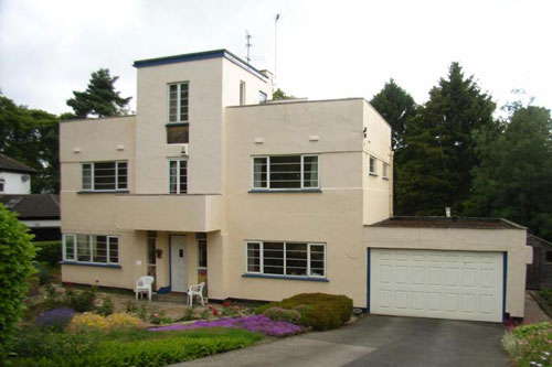 Many Of The Art Deco Houses We See On The Market Are Pushing The £1 Million  Mark. This 1930s Art Deco Four Bedroomed House In Guiseley, Near Leeds, ...