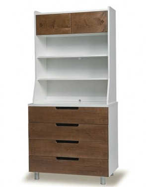 Oeuf_4drawerdresser_hutch_walnut_lg