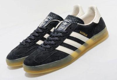 adidas black leather gazelle indoor