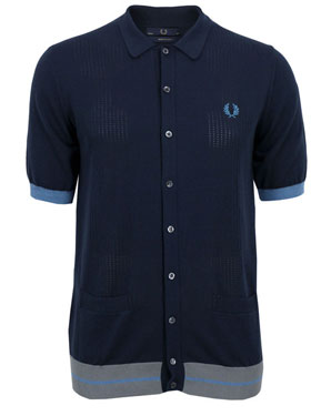 Fred Perry full-button knitted top