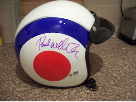 Bid for a Paul Weller-signed helmet