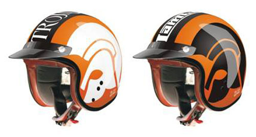 Trojan Records scooter helmets