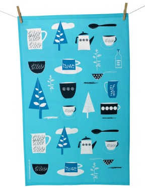 Forest tea towel