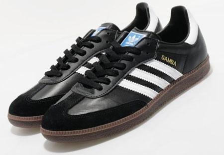 adidas samba classic black white