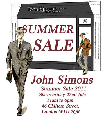 John Simons summer sale