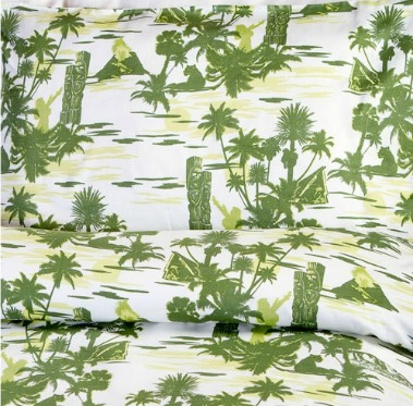 Tiki bed linen
