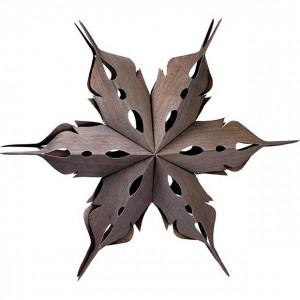 Wood-paper-snowflakes