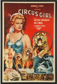 Print vintage Circus Girl